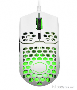 CoolerMaster MM711 Gaming Mouse with Lightweight Honeycomb Shell (60g), Matte White