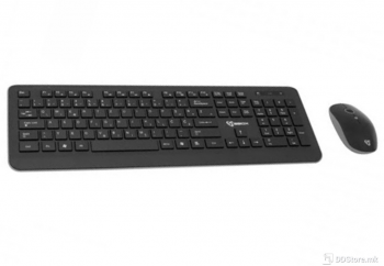 SBOX Wireless WKM-24 w/Mouse Black/Grey