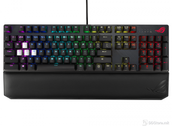 ASUS ROG Strix Scope Deluxe RGB wired mechanical gaming keyboard with Red Cherry MX
