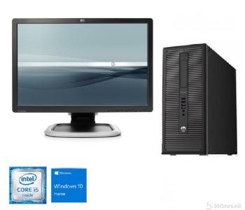 "Bundle HP Pro Desk 600 G1 Tower i5/ 8GB/ 500GB+240GB/W10/ HP L2245wg 22"""