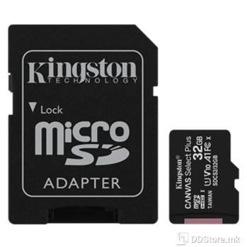 Kingston Canvas Select Plus 32GB UHS-I + SD adapter, microSD