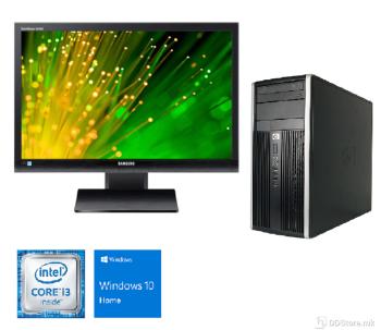 "Bundle HP Compaq Elite 8200 Tower i3/ 8GB/ 120GB+250GB/ GT1030 NEW/ W10/ Samsung S24A450 24"""
