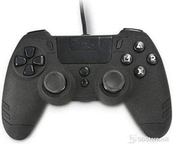 Wired Controller for PS4 SteelPlay Black