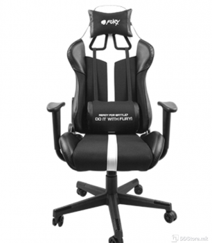 Natec Fury Avenger XL Black/White Gaming Chair