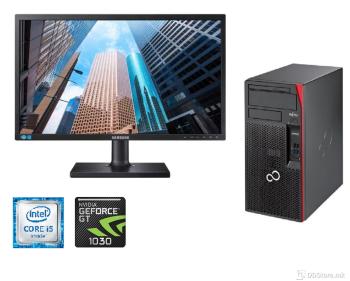 "Bundle Fujitsu Esprimo P557 Tower i5/ 8GB/ 240GB/GT1030 NEW/ Samsung 22"""