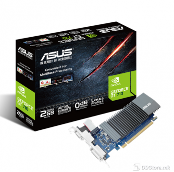 ASUS GT710-SL-2GD5-BRK, GeForce GT710, PCIe 2.0 x8, 2048 MB, GDDR5, 64-bit
