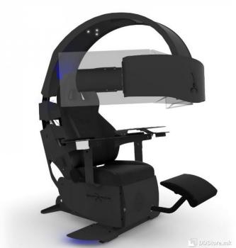 MWE Lab Emperor XT Gaming Chair - Black Premium carbon look  RGB-LED lighting