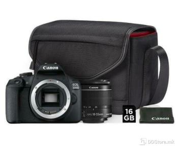 Canon DSLR EOS2000D BK 18-55IS KIT BAG SB130+16GB, 24.1MP,WiFI, Full HD