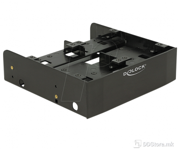 Delock 18217 5.25″ Installation Frame for 1 x 3.5″ + 2 x 2.5″ or 6 x 2.5″ hard drives