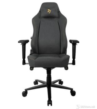 Arozzi Primo Woven Fabric Black Grey Logo Gaming Chair