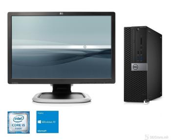 """Bundle DELL OptiPlex 7050 SFF i5/ 8GB/ 256GB/ W10/ HP L2245w 22"""""""