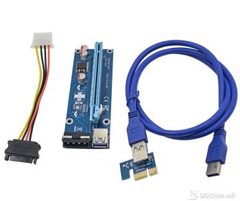 Convertor PCI-E card 1x to 16x SATA, Riser  60cm cable