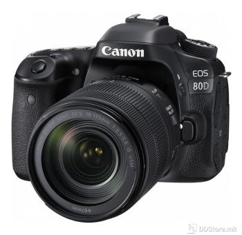 "Canon DSLR EOS 80D + EF18-135IS USM, 24.2MP, Full HD, Wi-Fi 3.0"""