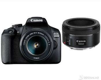 Canon DSLR EOS 2000D BK 18-55IS + 50 1.8S