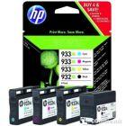 HP crtg. multipack for OfficeJet 6100/6600/7510 b/c/m/y high cap. (1k.) No.932xl/933xl, C2P42AE